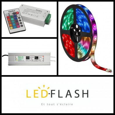 Kit Bandeau LED RGB 10 mètres - 4,8W/m I Led Flash