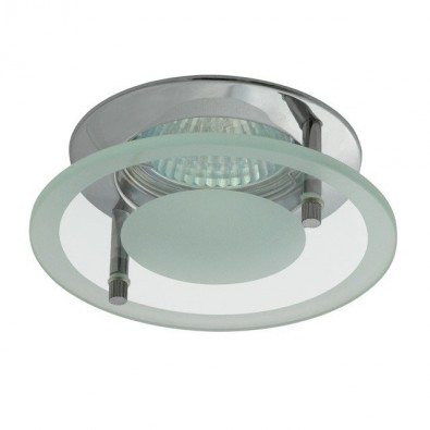 Support de spot avec verre de décoration rond - central | Led-Flash