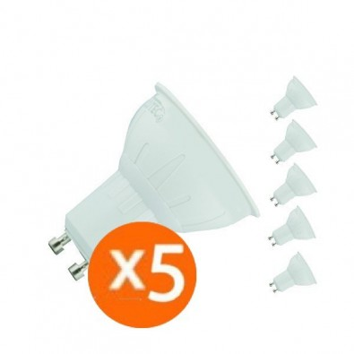 Lot de 5 spot led GU10 5 watt (eq. 50 watt) | Led-Flash
