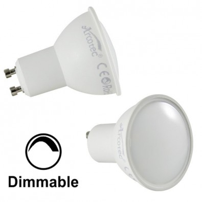 Spot led GU10 6 watt dimmable (eq. 50 watt) - pack de 2 - blanc chaud 2700°K | Led Flash