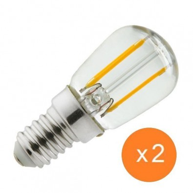 Ampoule led E14 1 watt (eq. 15 watt) - Frigo ou hotte - pack de 2