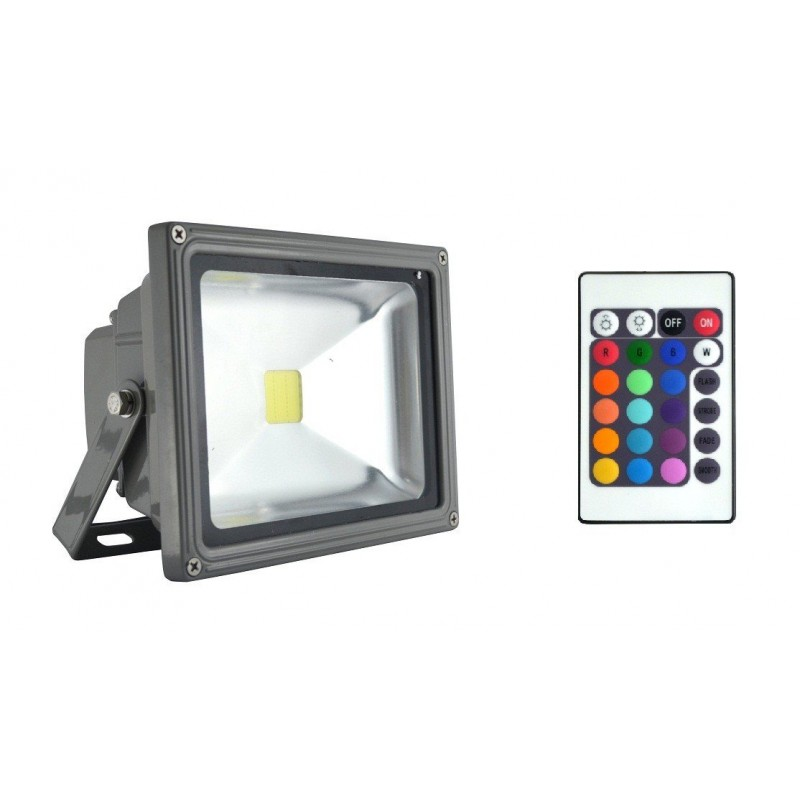 projecteur led 20 watt eq 180 watt rgb achat projecteur led 20w led flash. Black Bedroom Furniture Sets. Home Design Ideas
