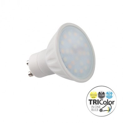 Spot led GU10 trois couleurs 5 watt | Led Flash