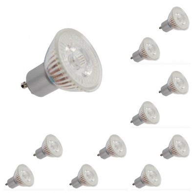 Lot de 10 spots led GU10 4,5 watt (eq. 50 watt) Led Flash