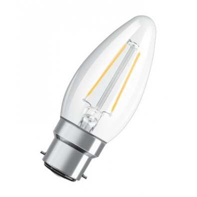 Ampoule led Flamme B22 2,1 watt (eq. 25 watt) Non Dimmable Retrofit OSRAM