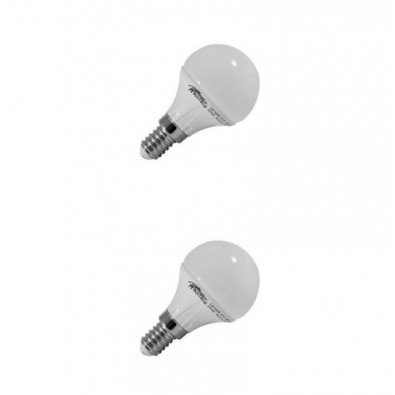 Blister de 2 ampoules LED Sphérique E14 4W 3000K | Led-Flash
