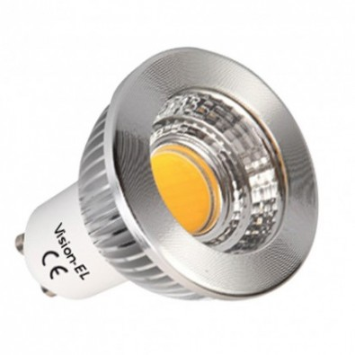 Spot led GU10 COB 5 watt Dimmable (eq. 45 watt) aluminium | Led Flash