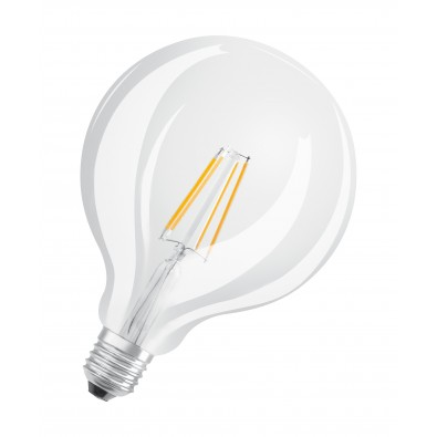 Ampoule LED Globe 125mm LED clair filament variation d'ambiance 7 watt (eq. 60W)