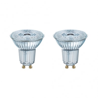 Lot de 2 Spots GU10 PAR16 36° 2,6 watt (eq. 35W) blanc chaud