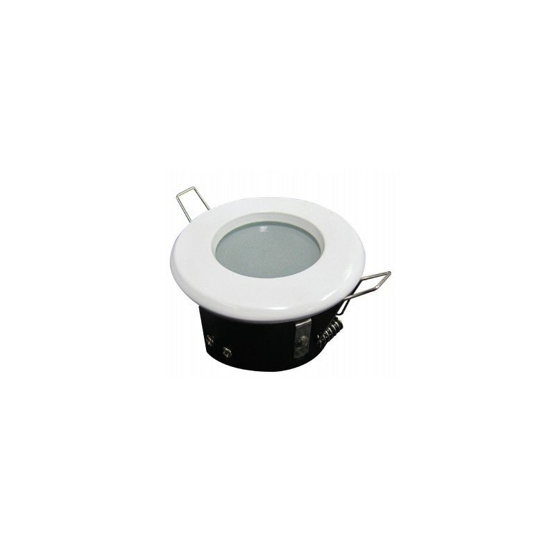 Support spot led ip65ip65 finition blanche achat support - Spot led encastrable salle de bain ip65 etanche ...