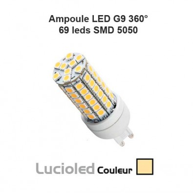 Ampoule LED G9 (eq. 70W) 8W 69 SMD 5050 Blanc chaud | Led-Flash