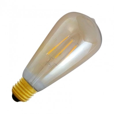 Ampoule Ampoule LED Filamentament St64  E27 5W Golden