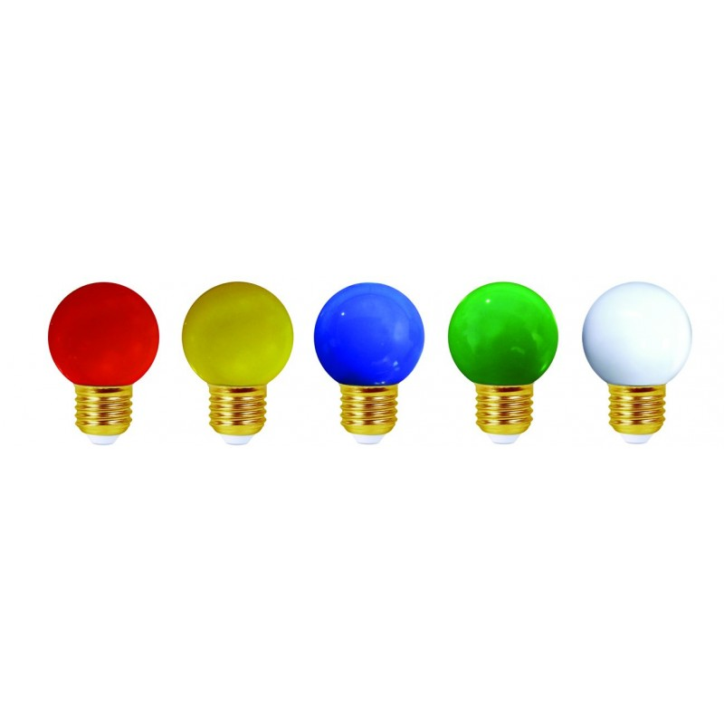 kit de 5 ampoules led e27 ip44 couleur pour guirlande achat led d co. Black Bedroom Furniture Sets. Home Design Ideas