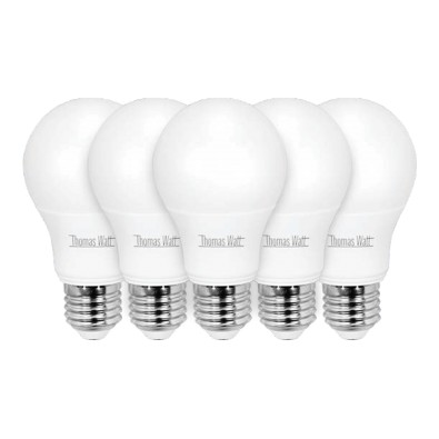 Lot de 5 ampoules led E27 9 watt (eq. 60 watt)